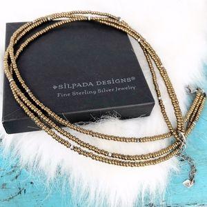 Silpada 925 Bronze Metallic Glass Beaded Necklace